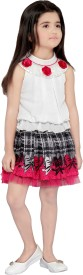 Be Kids Girls Party(Festive) Skirt Top(Pink)