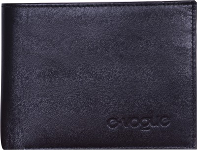 E-Vogue Men Black Genuine Leather Wallet