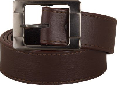 FastFox Men Casual, Formal, Party, Evening Brown Synthetic Belt