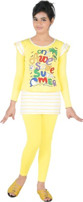 Yellow Dots T-shirt Girl's  Combo