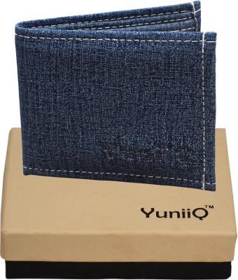 YuniiQ Men Blue Denim Wallet