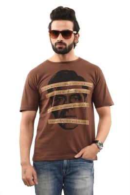 TSG Breeze Printed Men's Round Neck Brown T-Shirt