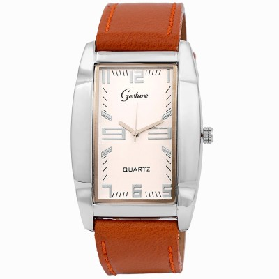Gesture Gesture 5023-SL-BR Rectangular Watch Analog Watch  - For Men
