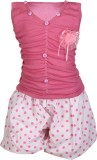 Crazeis Girls Casual Dress Shorts (Pink)