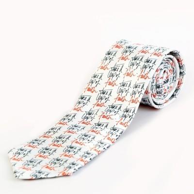 Blacksmith Leap Of Faith Design Graphic Print Men's Tie