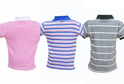 Most Wanted Striped Baby Boy's Polo Neck Multicolor T-Shirt