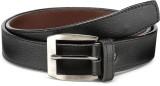 Arum Men Casual Black Genuine Leather Be...