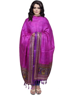 IndiWeaves Tussar Silk Printed Women's Dupatta