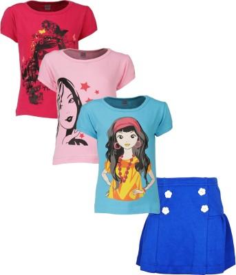 Gkidz T-shirt Girls  Combo