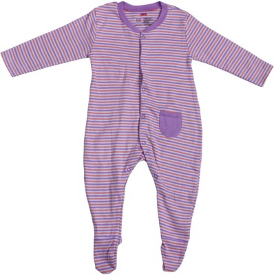 INDIRANG Striped Baby Girl's Jumpsuit