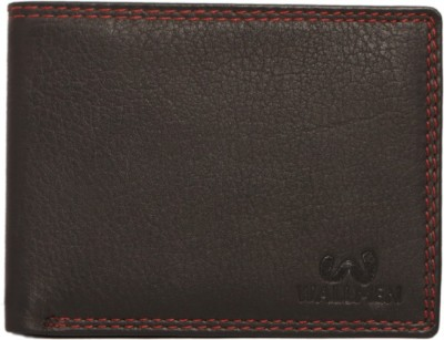 Wallmen Men, Boys Trendy Black Genuine Leather Wallet