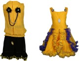 Crazeis Girls Top Skirt (Yellow)