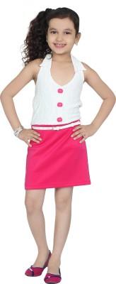 Be Kids Girl's Sheath White Dress