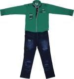 Sydney Boys Casual Shirt Jeans (Green)