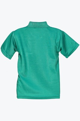 Wajbee Solid Boy's Polo Neck T-Shirt