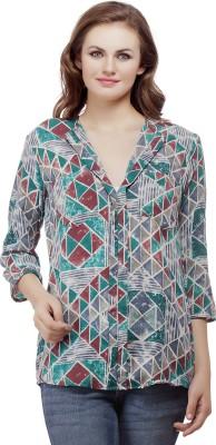 Mask Lifestyle Women's Geometric Print Casual Multicolor Shirt