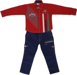 Sydney Boys Casual Shirt Jeans (Red)