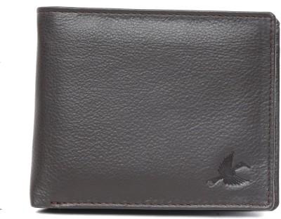 Hornbull Men Khaki Genuine Leather Wallet