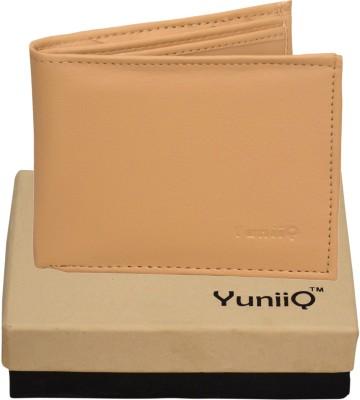 YuniiQ Men Beige Artificial Leather Wallet
