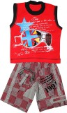 Littlelife Boys Casual T-shirt Pant (Red...