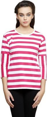 Rampwalk Casual 3/4 Sleeve Striped Women's Multicolor Top