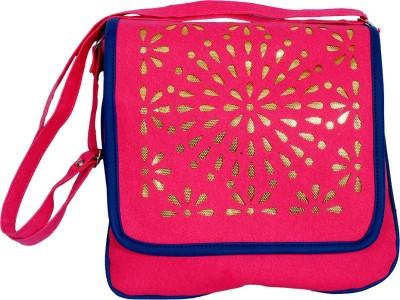 Kshipra Fashion Girls, Women Pink, Blue Leatherette Sling Bag