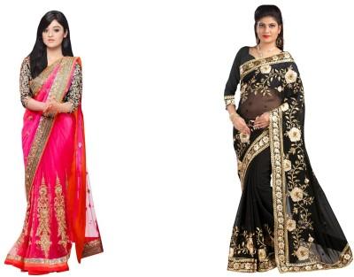Mysticbeauty Sari Women's  Combo