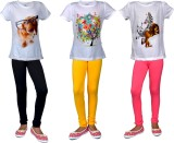 Sathiyas Girls Casual T-shirt Trouser (M...
