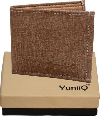 YuniiQ Men Beige Denim Wallet