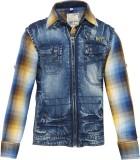 OKS Boys Boys Casual Shirt Jacket (Blue)