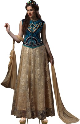 Parisha Net Embroidered Semi-stitched Salwar Suit Dupatta Material
