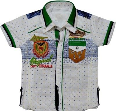 IL n ELLE Graphic Print Baby Boy's Fashion Neck Multicolor T-Shirt