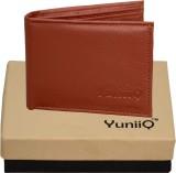 YuniiQ Men Tan Artificial Leather Wallet...