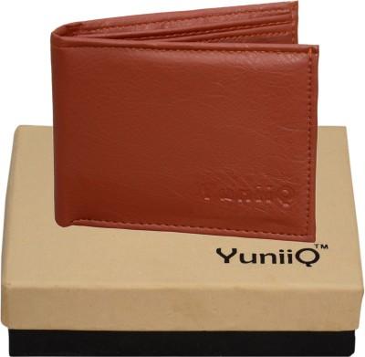 YuniiQ Men Tan Artificial Leather Wallet