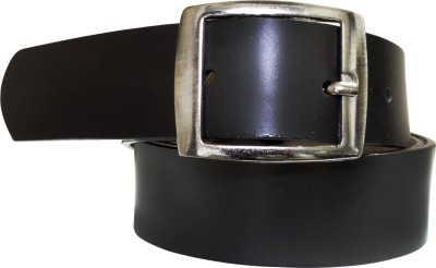 Silver Swan Men, Boys Formal, Casual Black Texas Leatherite Belt