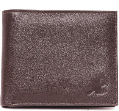 Hornbull Men Brown Genuine Leather Wallet