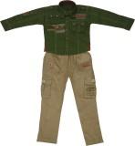 Sydney Boys Casual Shirt Trouser (Green)