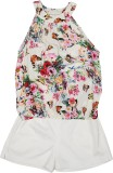 Mauve Girls Casual Top Shorts (Pink)