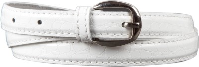 Babes Women, Girls Casual, Evening, Formal, Party White Synthetic Belt
