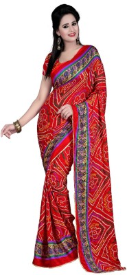 Shree Sainath Creation Printed Fashion Pure Crepe Sari