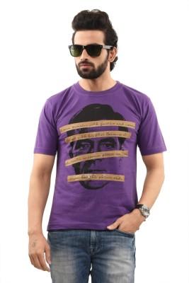 TSG Breeze Printed Men's Round Neck Purple T-Shirt
