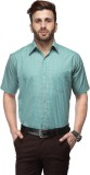 Koolpals Men's Checkered Casual Green Sh...