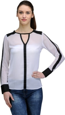 TheGudLook Casual Full Sleeve Solid Women's White Top