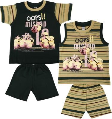 Mahaarani T-shirt Baby Boy's  Combo
