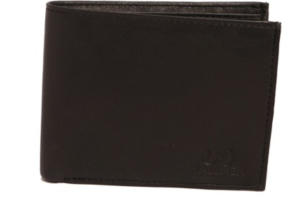Wallmen Men, Boys Formal Black Genuine Leather Wallet