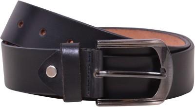 E-Vogue Men Black Genuine Leather Belt