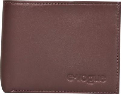 E-Vogue Men Brown Genuine Leather Wallet