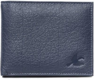 Hornbull Men Blue Genuine Leather Wallet