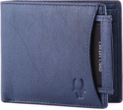 WildHorn Men Casual, Formal Blue Genuine Leather Wallet