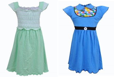 Most Wanted Girl's Gathered Multicolor Dress